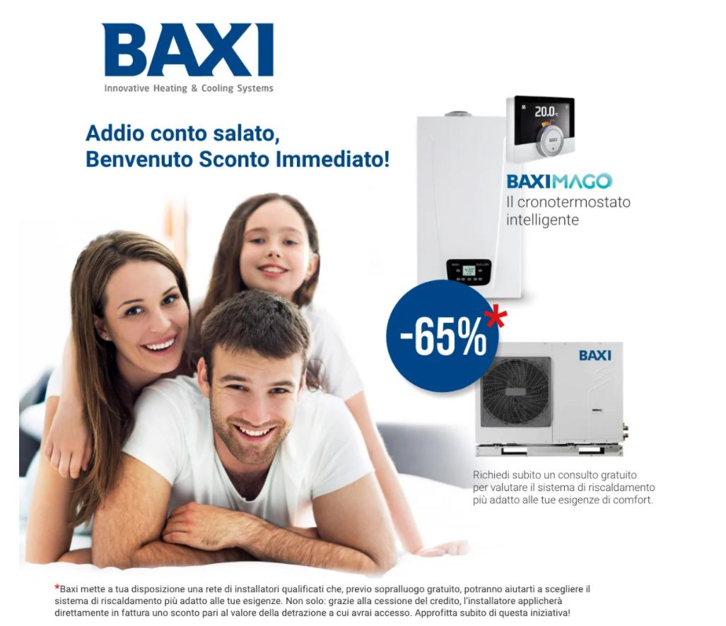Baxi - SCONTO IN FATTURA